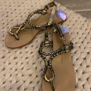 Dolce Vita sandals, gold
